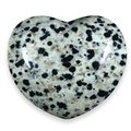 Dalmation Jasper Crystal Heart ~45mm
