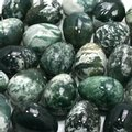 Moss Agate Crystal Egg ~48mm