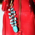 Turquoise Howlite Protection Crystal Charm