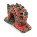 Unakite Carved Chinese Dragon