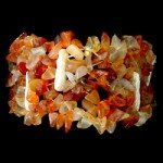 Shell & Carnelian Bracelet (Elasticated)