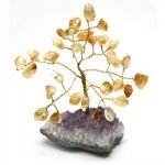 Citrine and Amethyst Gem Chip Tree