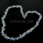 Opalite Gemstone Chip Necklace with Clasp