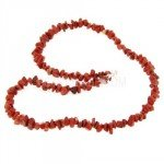 Red Jasper Gemstone Chip Necklace with Clasp