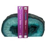 Agate Bookends ~11.5cm  Turquoise