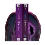 Agate Bookends ~12cm  Pink
