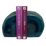 Agate Bookends ~13.8cm  Blue