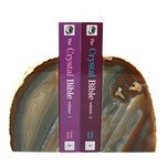 Agate Bookends ~13cm  Natural Brown