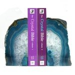 Agate Bookends ~13cm  Turquoise
