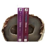Agate Bookends ~13cm Natural