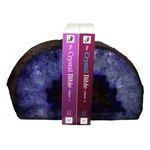 Agate Bookends ~14.3cm  Purple