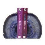 Agate Bookends ~14cm  Purple