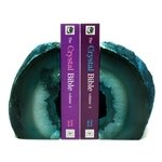 Agate Bookends ~14cm  Turquoise