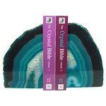 Agate Bookends ~15.4cm  Turquoise