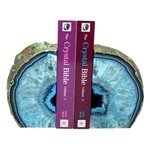Agate Bookends ~15cm  Blue