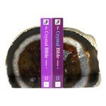 Agate Bookends ~15cm  Natural Brown