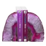Agate Bookends ~15cm  Pink