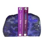 Agate Bookends ~15cm  Purple