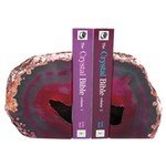 Agate Bookends ~16cm  Hot Pink
