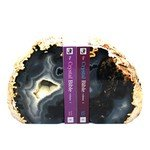 Agate Bookends ~16cm  Natural Grey/Brown