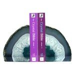 Agate Bookends ~18cm  Turquoise