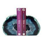Agate Bookends ~14cm  Blue