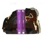 Agate Bookends ~19cm  Natural Brown