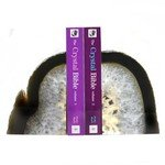 Agate Bookends ~19cm  Natural Grey