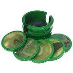 Agate Coaster Set - Green