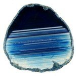 Agate Slice - Blue ~117mm