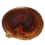 Agate Slice -  Red/Brown ~125mm
