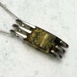 Amber Pendant - Long Oval Wrap (42mm)