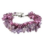 Amethyst & Freshwater Pearl Bracelet with Clasp