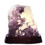 Amethyst Cluster with Wooden Base (Brazilian) - 220mm