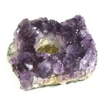 Amethyst Tea Light Candle Holder ~15.5 x 13cm DAMAGED