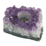 Amethyst Tealight Candle Holder ~ 13 x 9cm