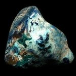 Rare Shattuckite, Dioptase & Malachite Polished Stone ~77mm from The Congo, Collectors Item