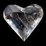 Beautiful Quartz Faceted Polished Heart ~64mm