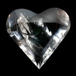 Beautiful Quartz Faceted Polished Heart ~66mm