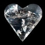 Beautiful Quartz Faceted Polished Heart ~70mm