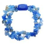 Blue Agate Bracelet - Nugget & Gem Chips