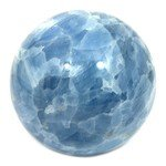 Blue Calcite Crystal Sphere ~10cm