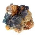 Blue Sky Fluorite with Limonite ~90mm