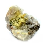CALMING Gold Rutile Quartz Cluster ~76mm