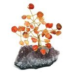 Carnelian & Amethyst Gem Chip Tree