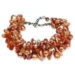 Carnelian Bead & Gem Chip Bracelet with Clasp