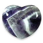 Chevron Amethyst Crystal Heart ~45mm