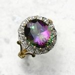 Clear & Mystic Topaz Ring in 9ct Gold