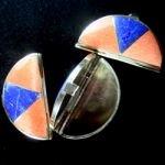 Crystal Pillbox (Celestobarite & Lapis Lazuli)