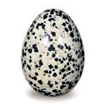 Dalmation Jasper Crystal Egg ~48mm